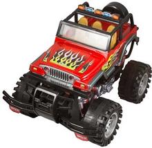 Monster truck - Selvkørende - 33 cm lang - Rød med flammer