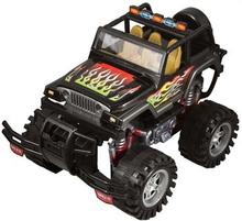Monster truck - Selvkørende - 33 cm lang - Sort med flammer