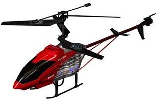 Fjernstyret helikopter - 62 cm lang - Sort