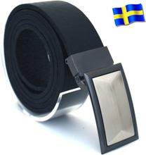 Läderbälte Bull svart 35mm 851-SP3