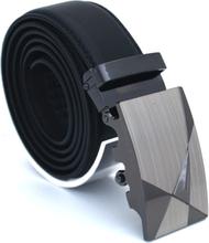 Läderbälte stripe svart 975