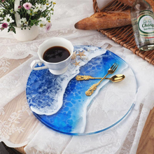 Round Rectangle Handle Tray Coaster Silicone Mold Resin Molds For DIY Crystal Epoxy Resin Coaster Home Decoration Resin Crafts