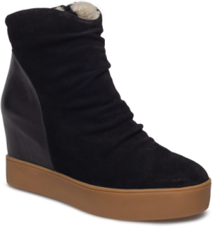 Trish Fur Shoes Boots Ankle Boots Ankle Boots Flat Heel Sort Shoe The Bear