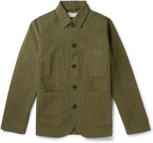 Universal Works - Baker Garment-dyed Cotton-canvas Chore Jacket - Green - M,Universal Works - Baker Garment-dyed Cotton-canvas Chore Jacket - Green - XS,Universal Works - Baker Garment-dyed Cotton-canvas Chore Jacket - Green - S,Universal Works - Baker Ga