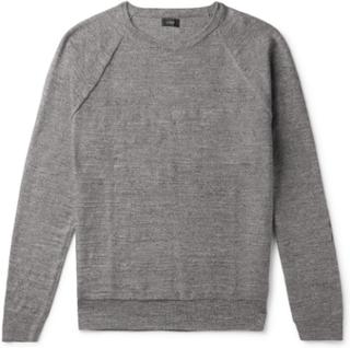 Mélange Cotton Sweater - Gray
