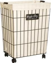 593 Laundry basket laundry basket Nordic simple household clothing toy storage basket bathroom wrought iron with lid laundry