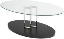 Monza soffbord - Klarglas/svart