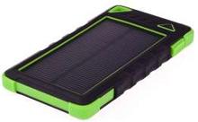 GreyLime Powerbank med solcelle 8000mAh Batteri 1,2W solcelle Grøn