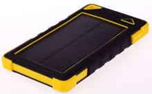 GreyLime Powerbank med solcelle 8000mAh Batteri 1,2W solcelle Gul
