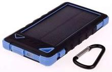 GreyLime Powerbank med solcelle 8000mAh Batteri 1,2W solcelle Blå