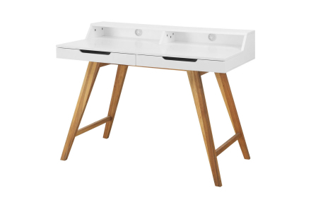 OSSI Skrivebord 110 Hvit/Natur -