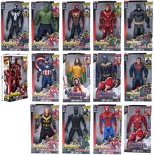 "Marvel Super Heroes Avengers Thanos Black Panther Captain America Thor Iron Man Spiderman Hulkbuster Hulk Action Figure 12"" 30cm"
