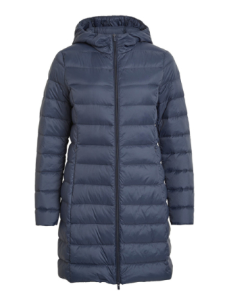 VILA Long, Light, Down Jacket Women Blue