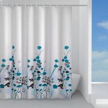 Hefe Dusjforheng 180x200 cm, Blå blomst