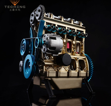 Full Metal Assembled Four-cylinder Inline Gasoline Engine Model Building Kits for Researching Industry Studying / Toy / Gift