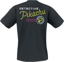 Pokemon - Meisterdetektiv Pikachu - Logo -T-skjorte - svart
