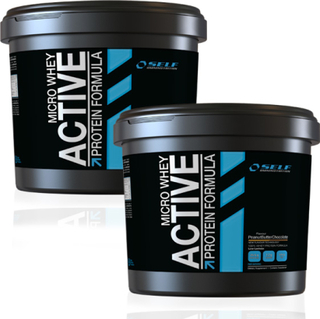 2 x Self Micro Whey Active 4 kg - Isolate Proteinpulver
