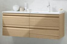Dansani Zaro Møbelpakke 120,5 cm m/Skuffer & høyrevendt Fresco vask, Hvit matt