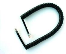 Spiralledning telefonrør 5M sort