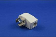 Telefonstikadapter 3P/ RJ11 hvid