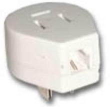 Telefonstikadapter 3P/H RJ11 hvid