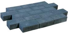 Pflastersteine beton schwarz.