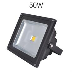 LED strålkastare 50W 230V 5500lumen IP67 Svart Bredstrålande, Robust bredstrålande strålkastare för utomhusbruk. Monterad i Sverige 3 års garanti