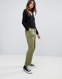 Noisy May Cannon Chino Trousers - Green