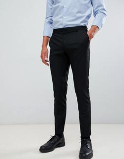 Burton Menswear skinny fit smart trousers in black
