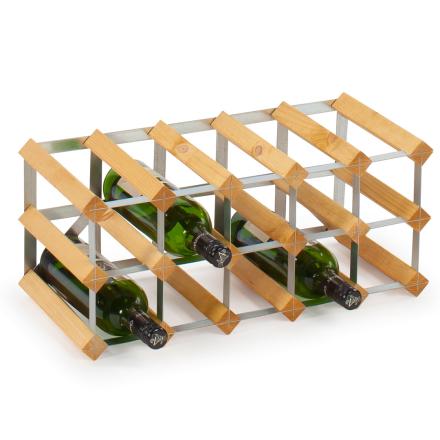 Vinställ Påbyggnadsbart 15 Flaskor Light oak