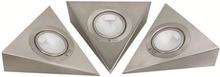 Malmbergs Downlightset 12V MD-33S Satin/silver 3x20W IP21