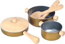 Kökstillbehöver kastruller och stekpanna