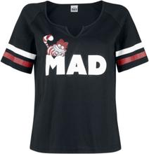 Alice in Wonderland - Cheshire Cat - Mad -T-skjorte - svart