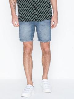Topman Mid Wash Slim Fit Shorts Shorts Blue
