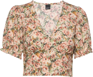 Kathy Top Crop Tops Multi/mønstret Gina Tricot