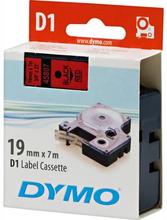 DYMO D1 merkkausteippi 19 mm punainen teippi/musta teksti 7 m