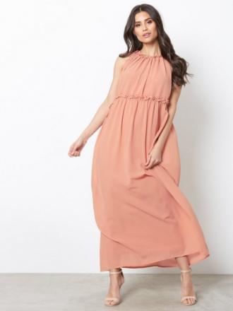 Only onlCEREMONY Halterneck Long Dress W Vaaleanpunainen