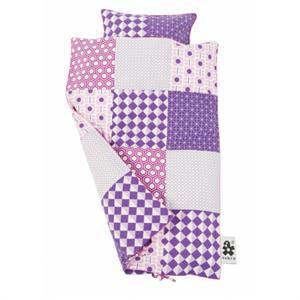 Sebra junior sengetøj, lilla patch - Babytorvet.dk