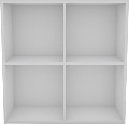 Flora væghængt hvidt reolsystem - 4 rum