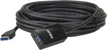 ATEN UE350 akt. USB 3.0 jatkokaapeli ur - na 5m musta