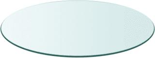 vidaXL Bordplate Herdet Glass Rund 400 mm