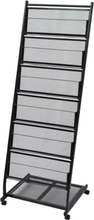 Magasinhylle 47,5x43x133 cm svart A4