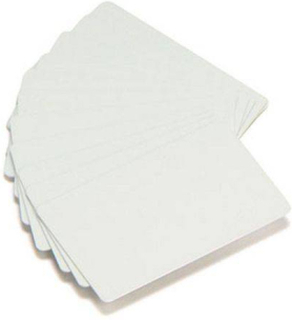 Plastkort ZEBRA PVC White Cards 500/FP