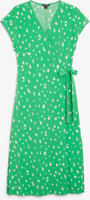 Sleeveless wrap dress - Green