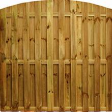 Sichtschutzzaun Holzzaun Multi 180x180cm Rundbogen