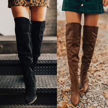 Faux Suede Slim Boots Sexy Over The Knee High Women Fashion Winter Thigh High Boots Shoes Woman Fashion Botas Mujer