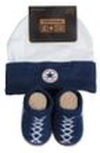 Converse Baby 2-er Geschenk-Set Mütze Söckchen blau