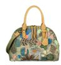 Oilily Damen Handtasche Botanic Pop Boston Bag Nori (Blattmuster) Green (grün)