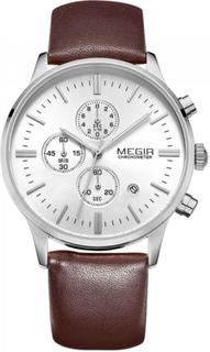 Megir Master Brown/Silver 42mm herreur - Megir