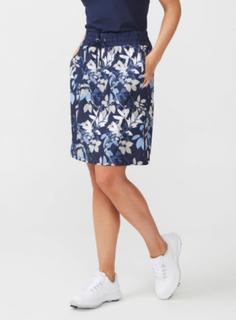 Comfort Skort kjol (Färg: Mörkblå/blommig, Storlek: 36)